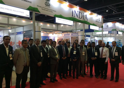 At the Indian Pavilion WETEX 2017, UAE with Indian High Commissioner