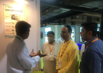 Mr. George V with Mayor & their team at Metsi Enviro Stall at Muncipalika, Mumbai on September 2018