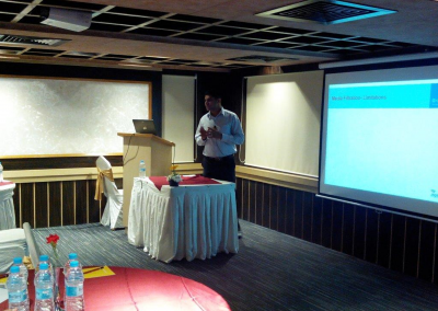 Craig Dias, Head Asia Pacific, Marketing, Inge, Germany at a Seminar on Ultra Filtration Membranes on October 2013